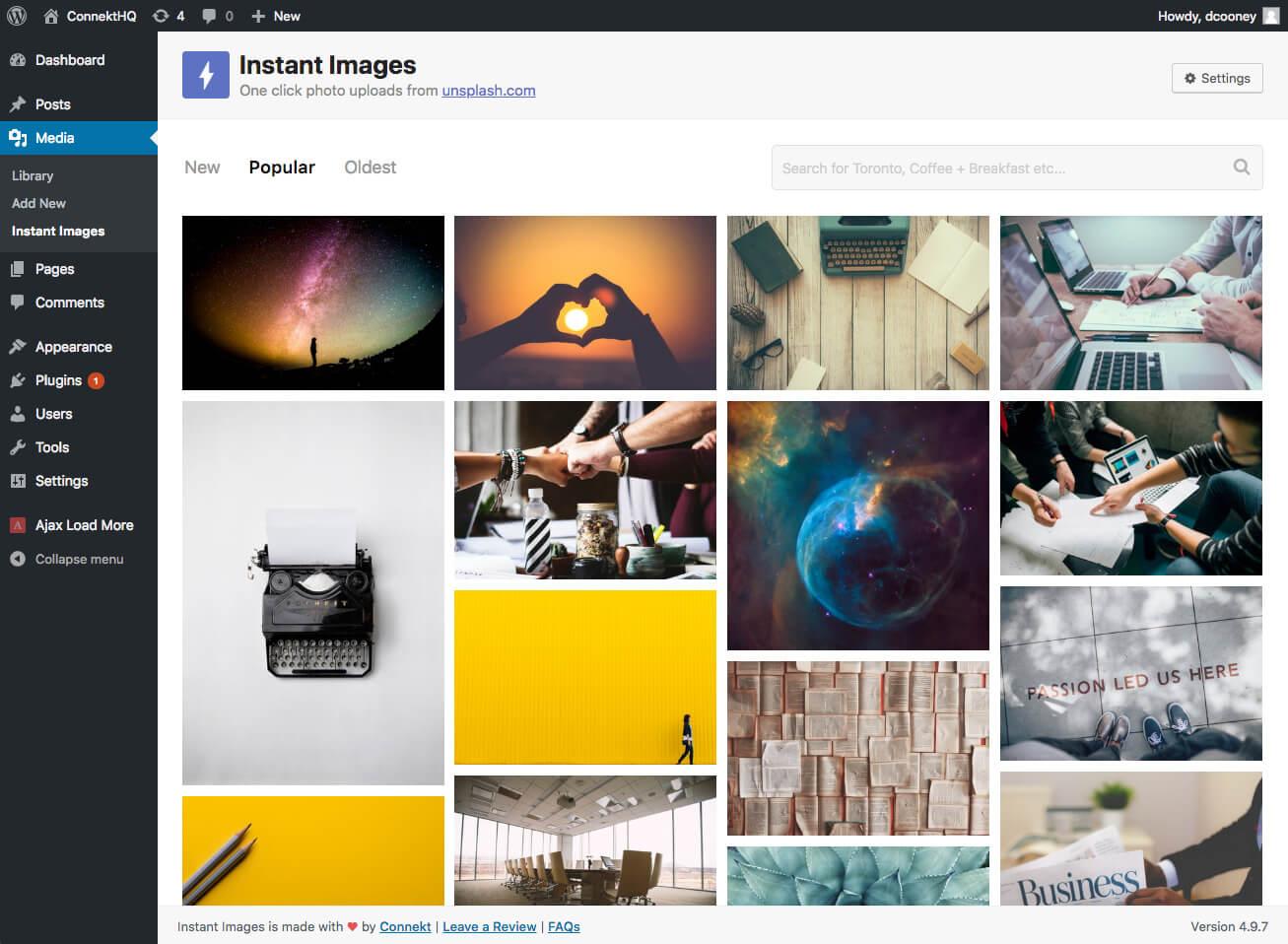 Download Instant Images – One Click Unsplash Uploads 3.2.1 – Free WordPress Plugin