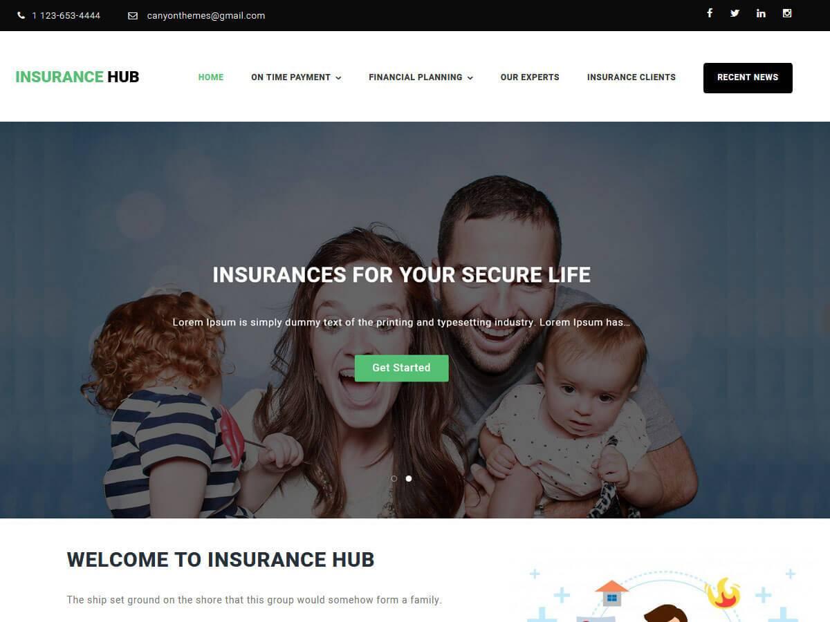 Download Insurance Hub 1.0.6 – Free WordPress Theme