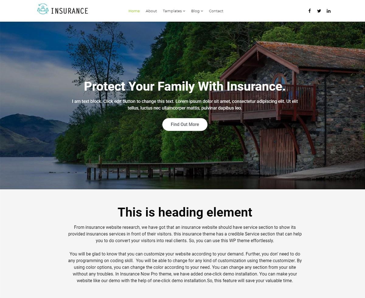 Download Insurance Now 1.3 – Free WordPress Theme