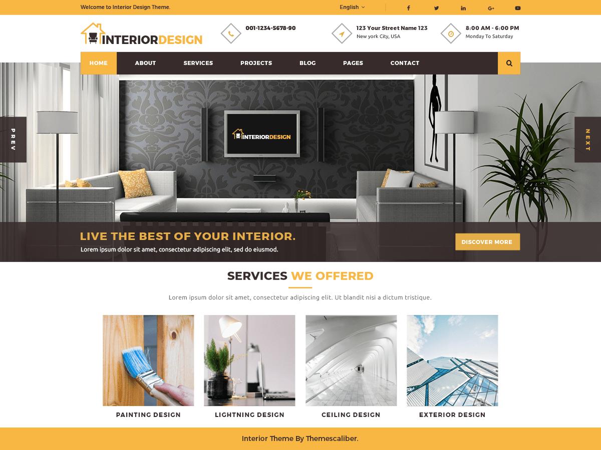 Download Interior Designs 0.4.3 – Free WordPress Theme