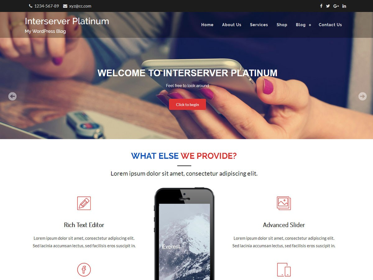 Download Interserver Platinum 1.1.3 – Free WordPress Theme