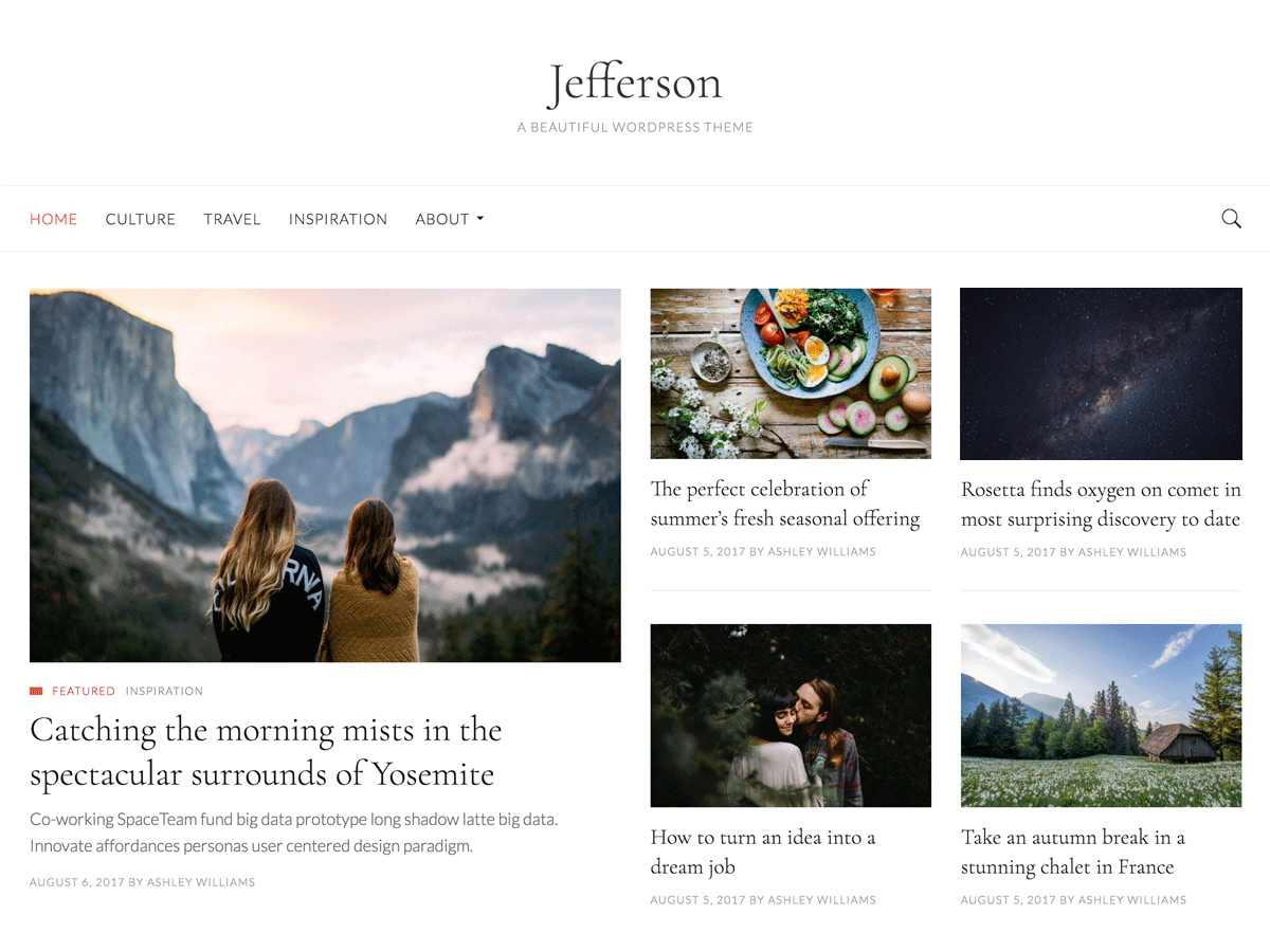 Download Jefferson 1.0.3 – Free WordPress Theme