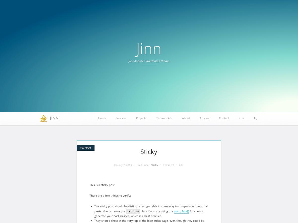 Download Jinn 2.1.3 – Free WordPress Theme