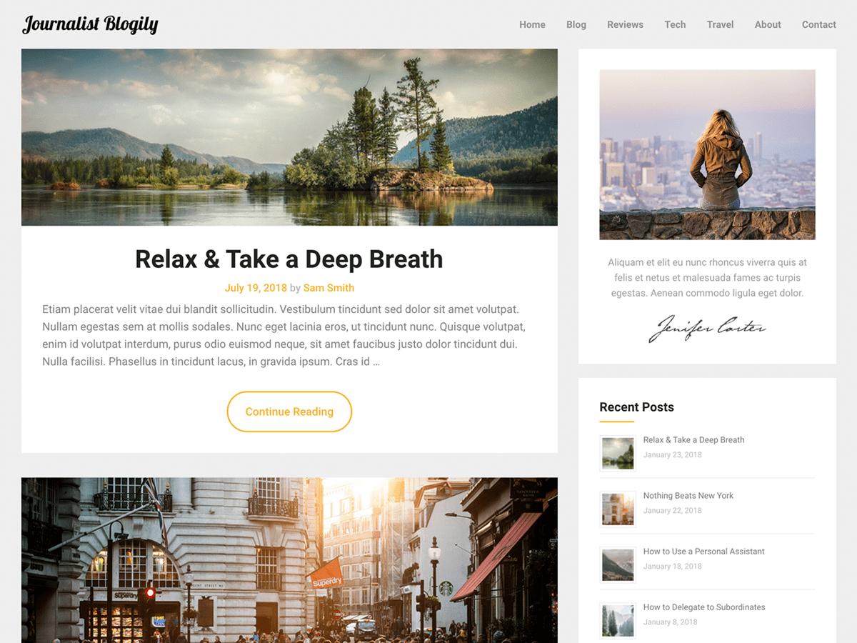 Download JournalistBlogily 1.0 – Free WordPress Theme