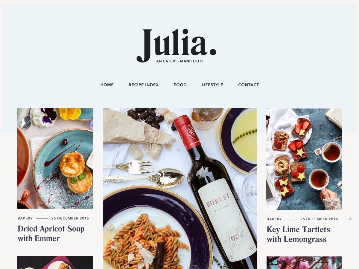 Download Julia Lite 1.0.6 – Free WordPress Theme