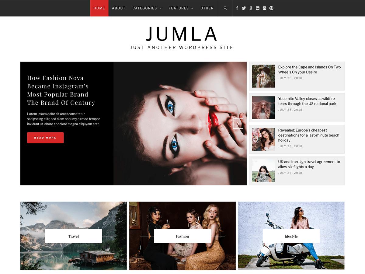 Download Jumla 1.0.3 – Free WordPress Theme
