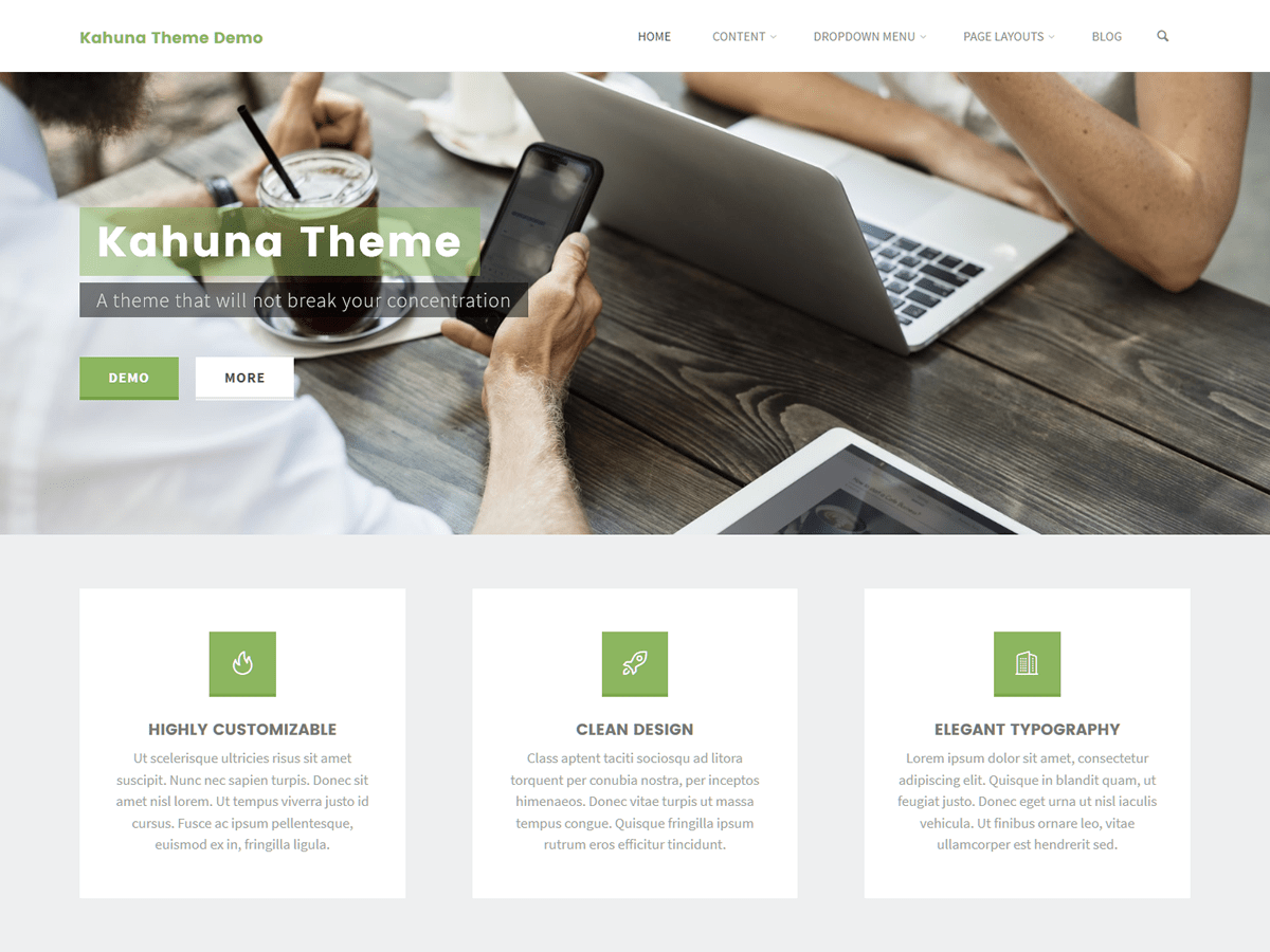 Download Kahuna 1.3.1.1 – Free WordPress Theme