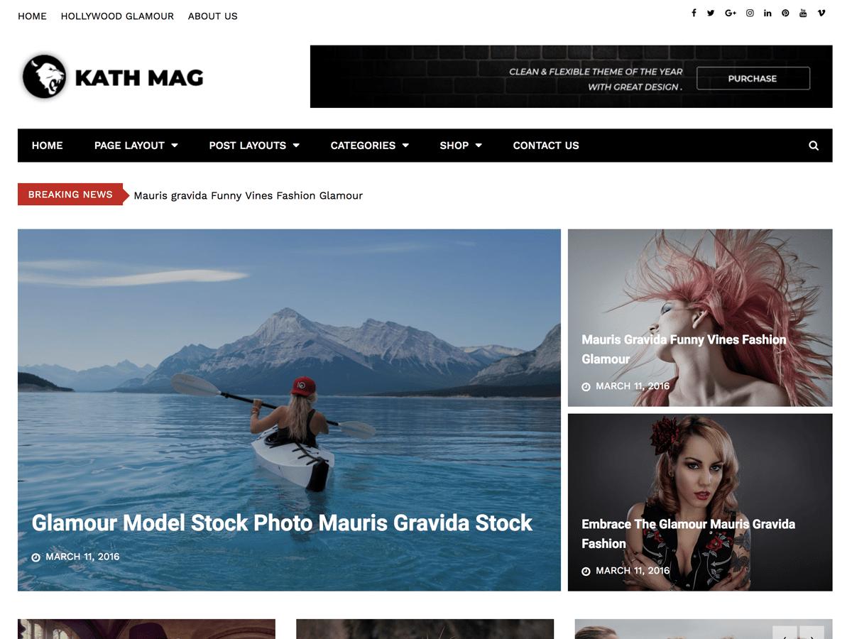 Download Kathmag 1.0.3 – Free WordPress Theme