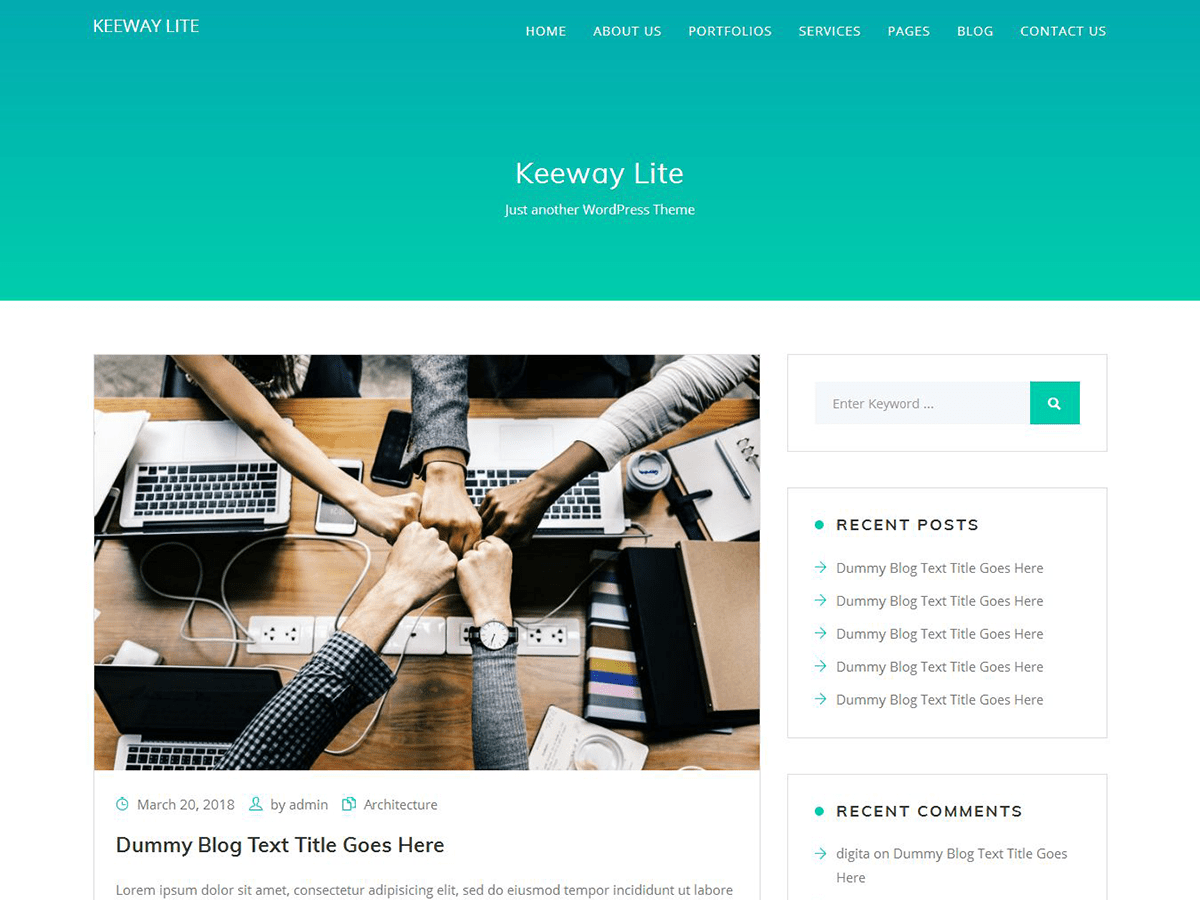 Download Keeway Lite 1.6 – Free WordPress Theme