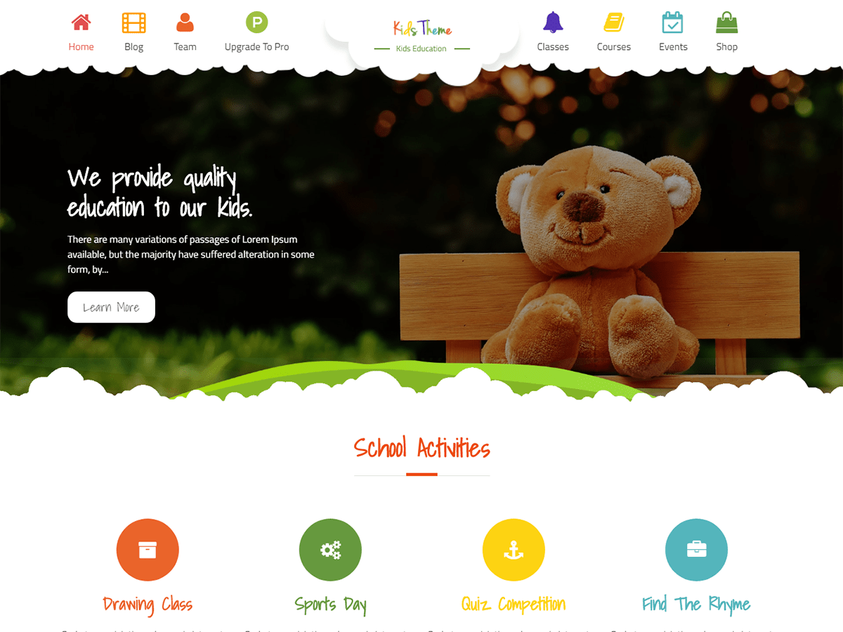 Download Kids Education 1.0.4 – Free WordPress Theme