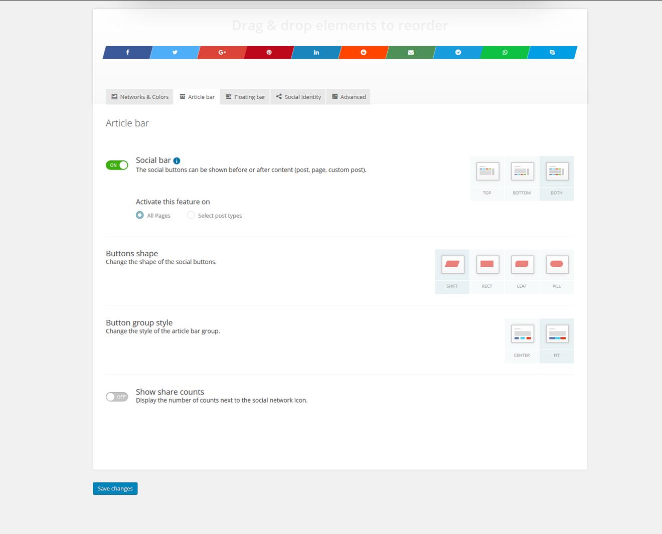Download Kiwi Social Share – Social Media Share Buttons & Icons 2.0.8 – Free WordPress Plugin
