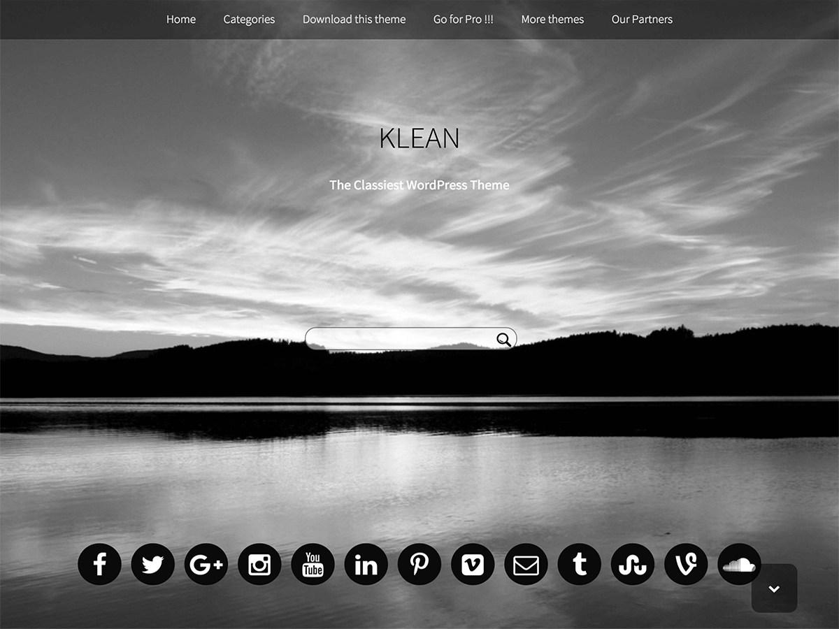 Download Klean 1.26 – Free WordPress Theme