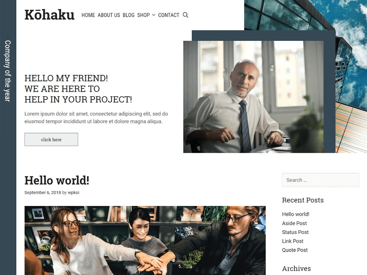 Download Kohaku 1.0.0 – Free WordPress Theme