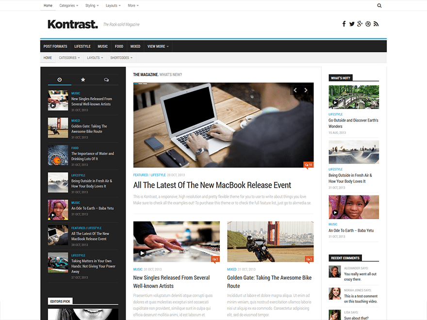 Download Kontrast 1.0.7 – Free WordPress Theme