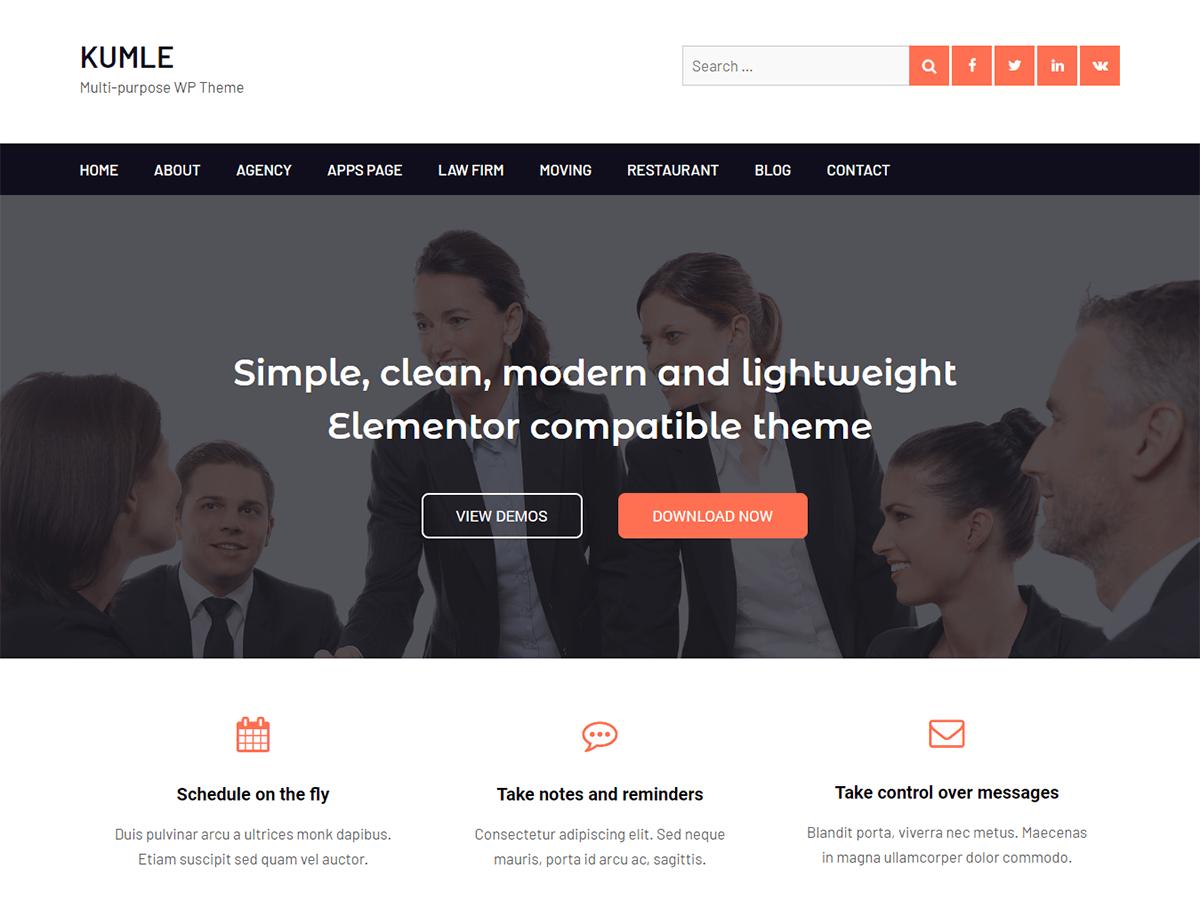 Download Kumle 1.0.3 – Free WordPress Theme
