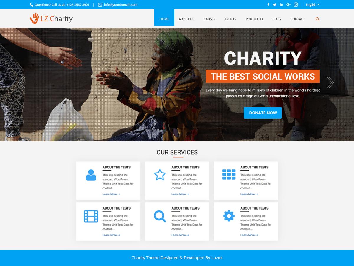Download LZ Charity Welfare 0.1 – Free WordPress Theme