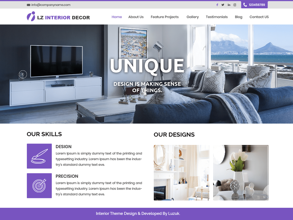 Download LZ Interior Decor 0.1 – Free WordPress Theme