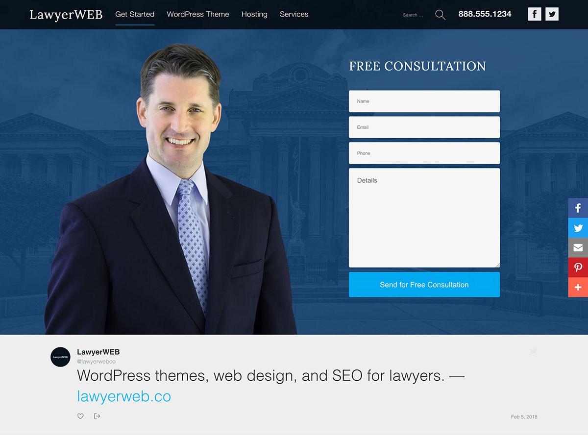 Download Lawyer WP 1.0 – Free WordPress Theme