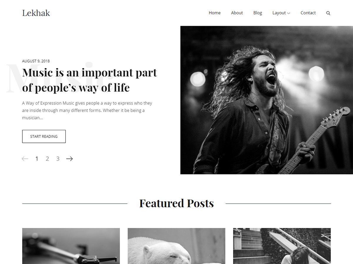 Download Lekhak 1.0.1 – Free WordPress Theme