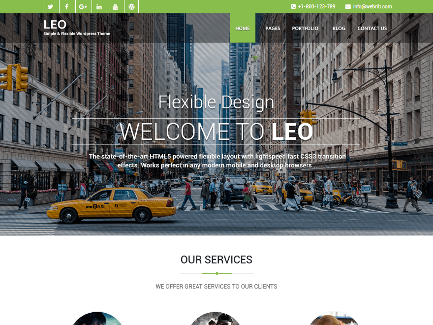 Download Leo 1.2.3 – Free WordPress Theme