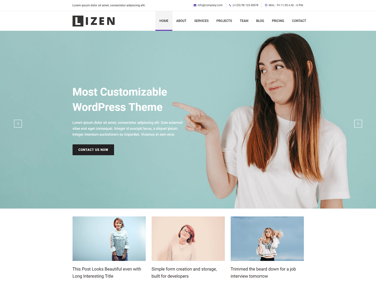 Download Lizen 1.0.2 – Free WordPress Theme