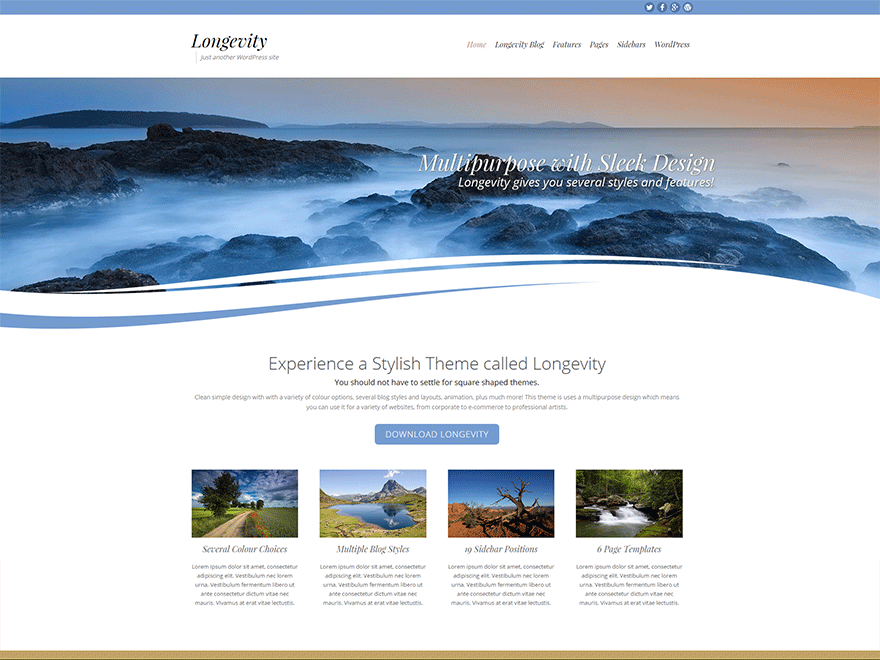 Download Longevity 1.5.2 – Free WordPress Theme