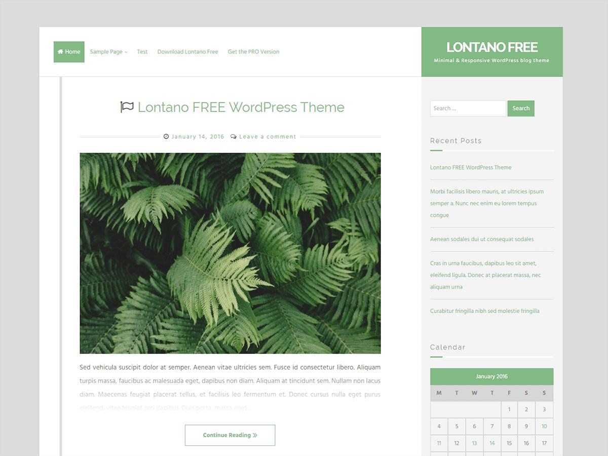 Download Lontano 1.3.9 – Free WordPress Theme
