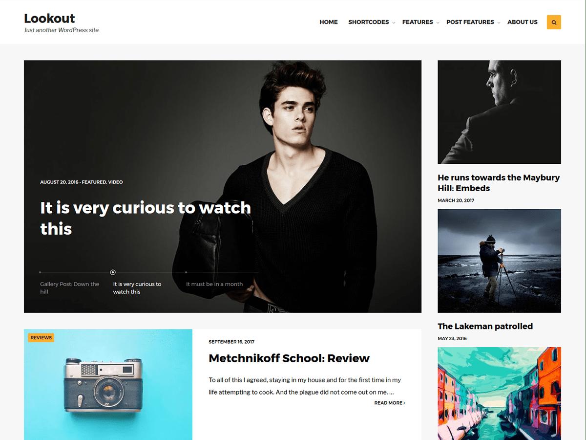 Download Lookout 1.0.7 – Free WordPress Theme