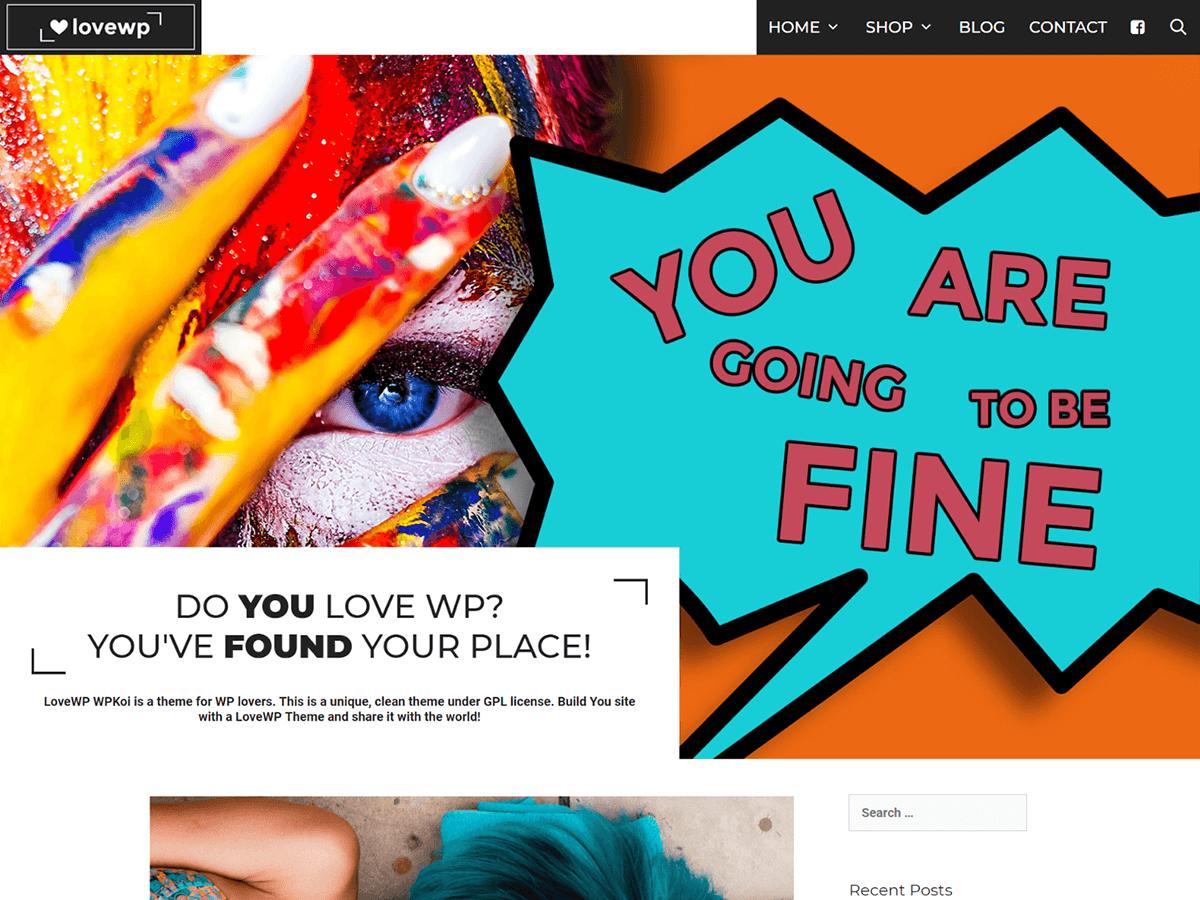 Download LoveWP 1.0.1 – Free WordPress Theme