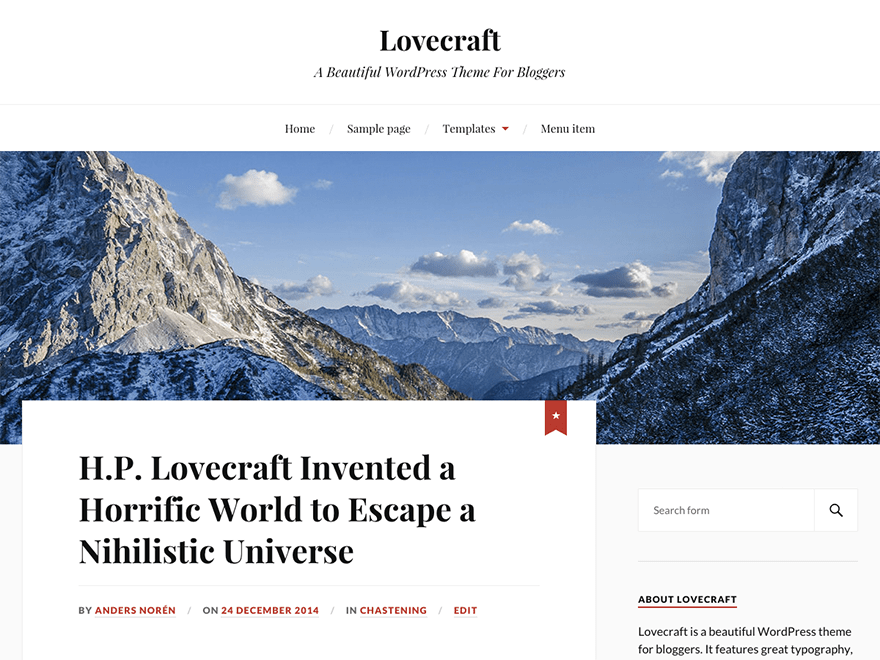 Download Lovecraft 1.24 – Free WordPress Theme