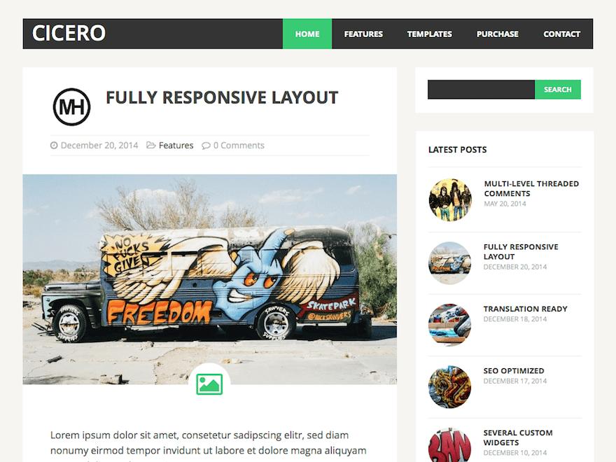 Download MH Cicero lite 1.3.0 – Free WordPress Theme
