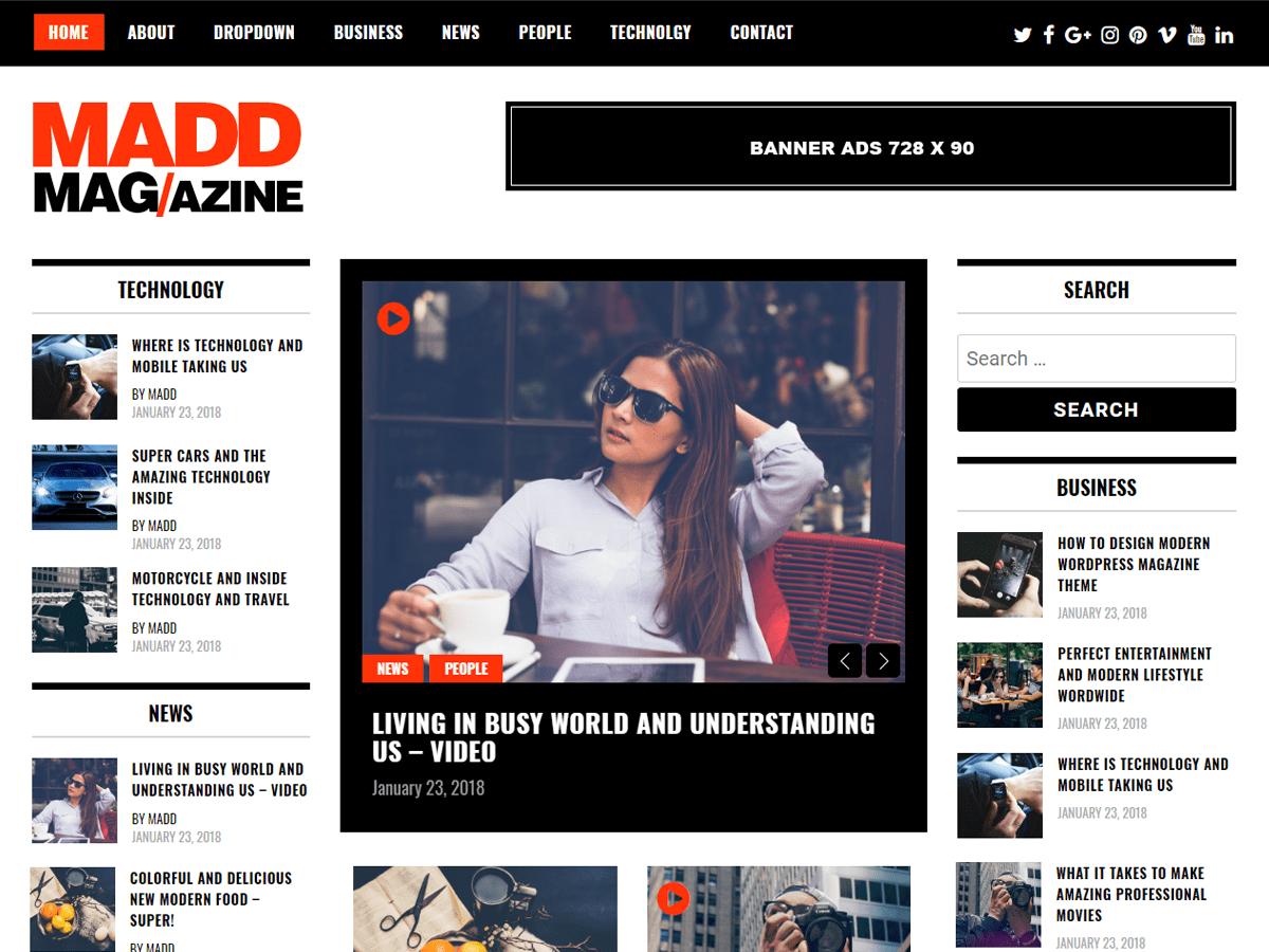 Download Madd Magazine 1.0.8 – Free WordPress Theme