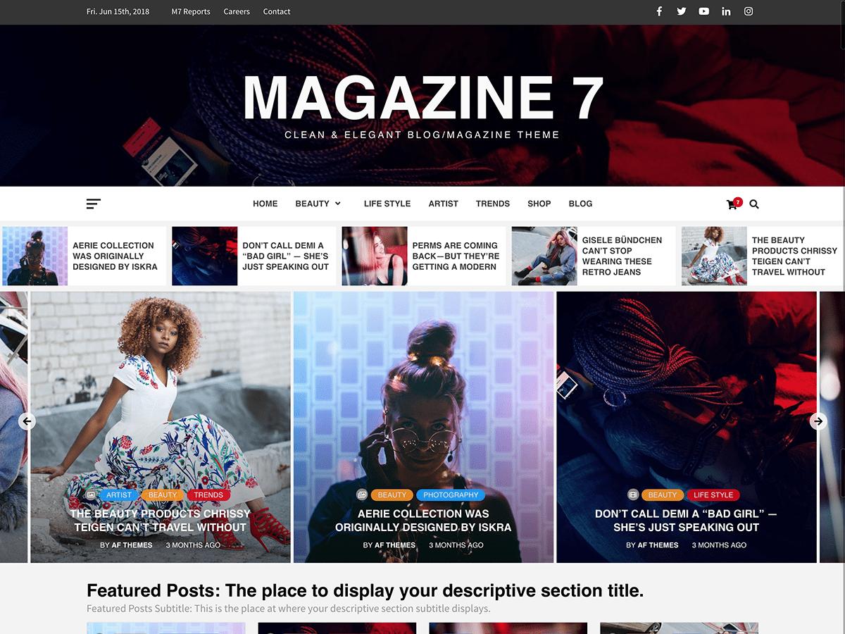Download Magazine 7 1.1.3 – Free WordPress Theme