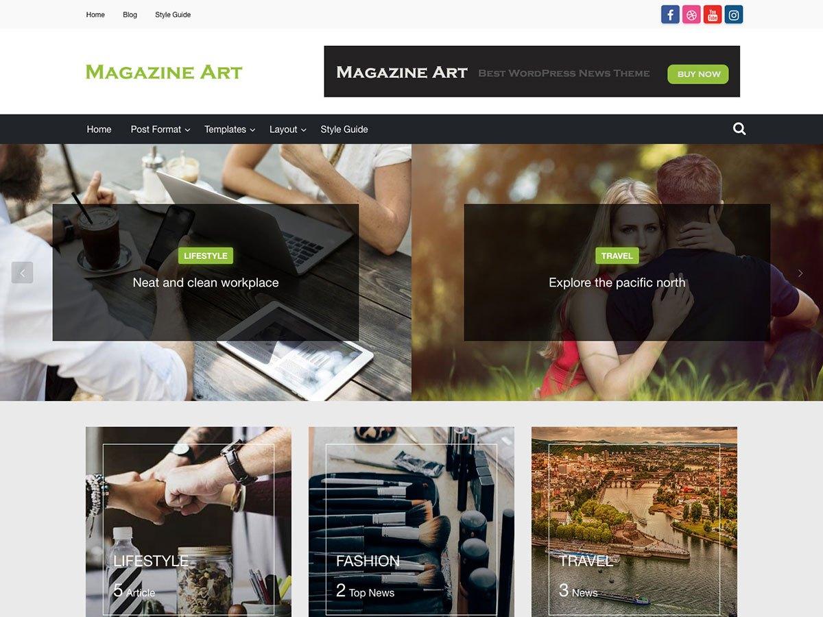 Download Magazine Art 1.0.6 – Free WordPress Theme