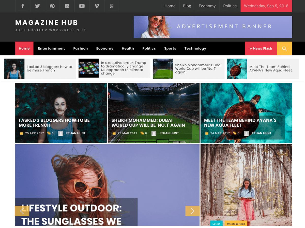 Download Magazine Hub 1.0.1 – Free WordPress Theme