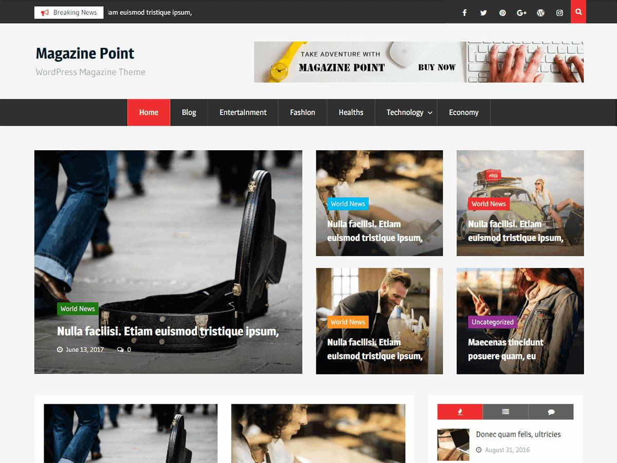 Download Magazine Point 1.0.8 – Free WordPress Theme