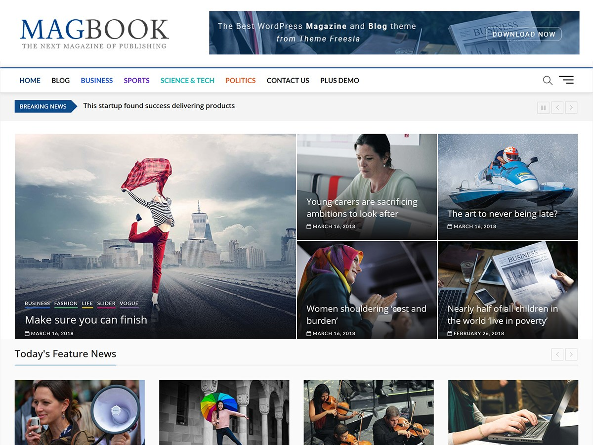 Download Magbook 1.2 – Free WordPress Theme