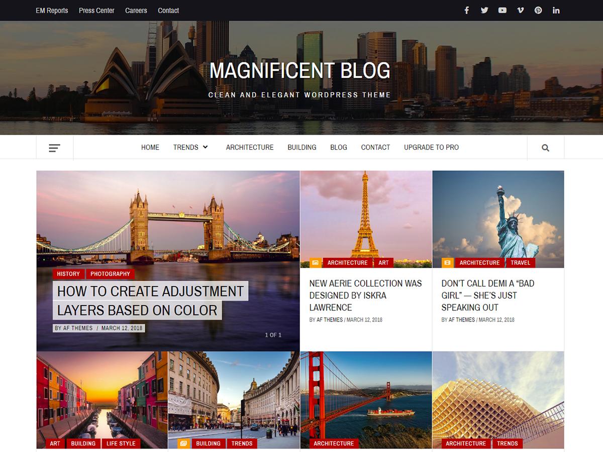 Download Magnificent Blog 1.0.0 – Free WordPress Theme