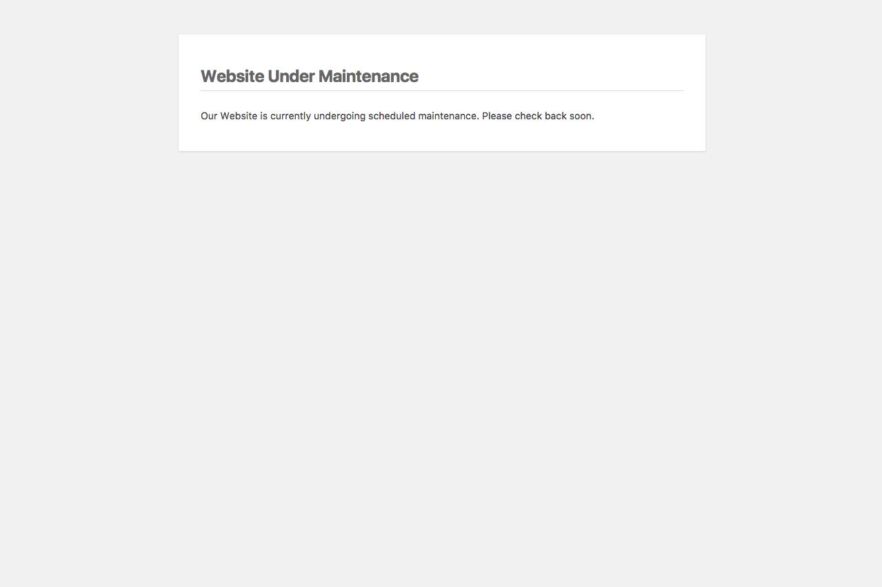 Download Maintenance Mode 2.4.3 – Free WordPress Plugin