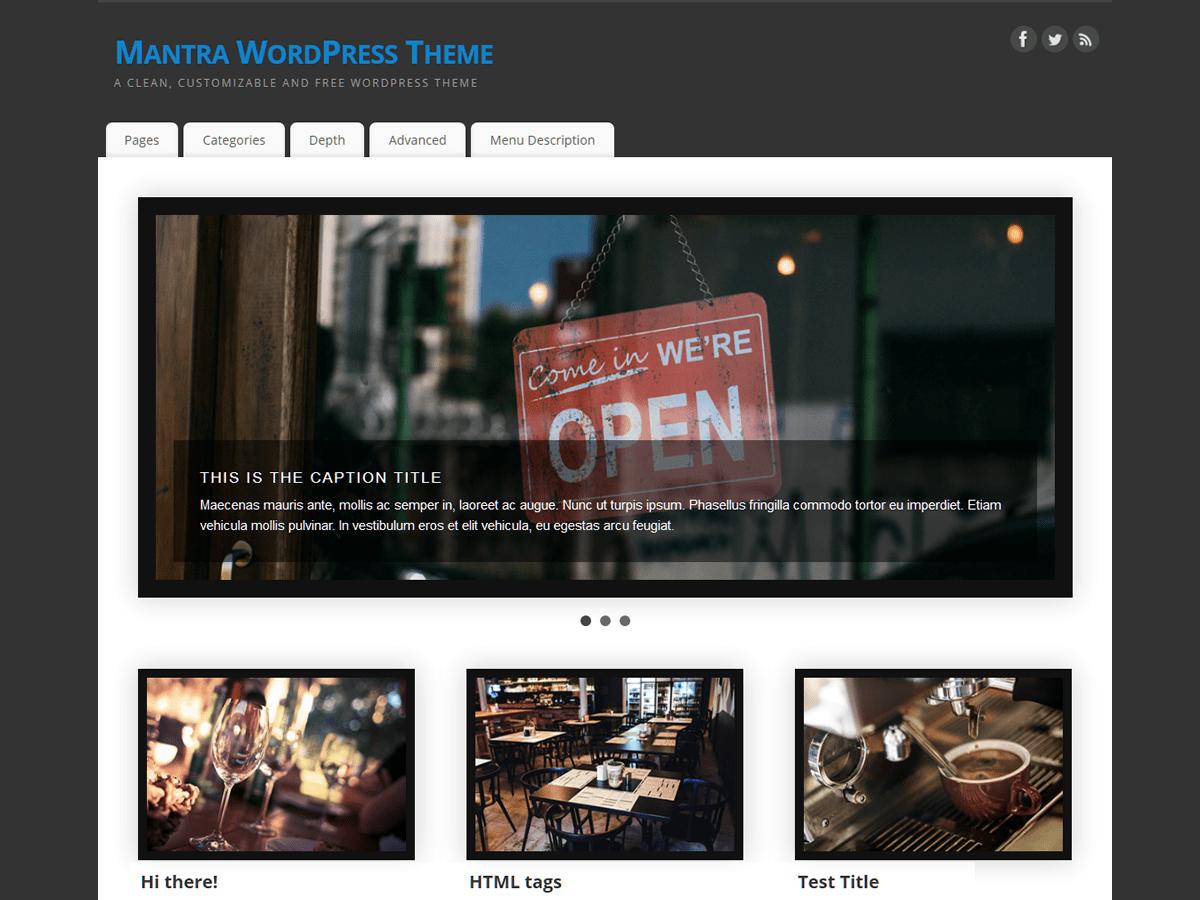 Download Mantra 3.0.5 – Free WordPress Theme