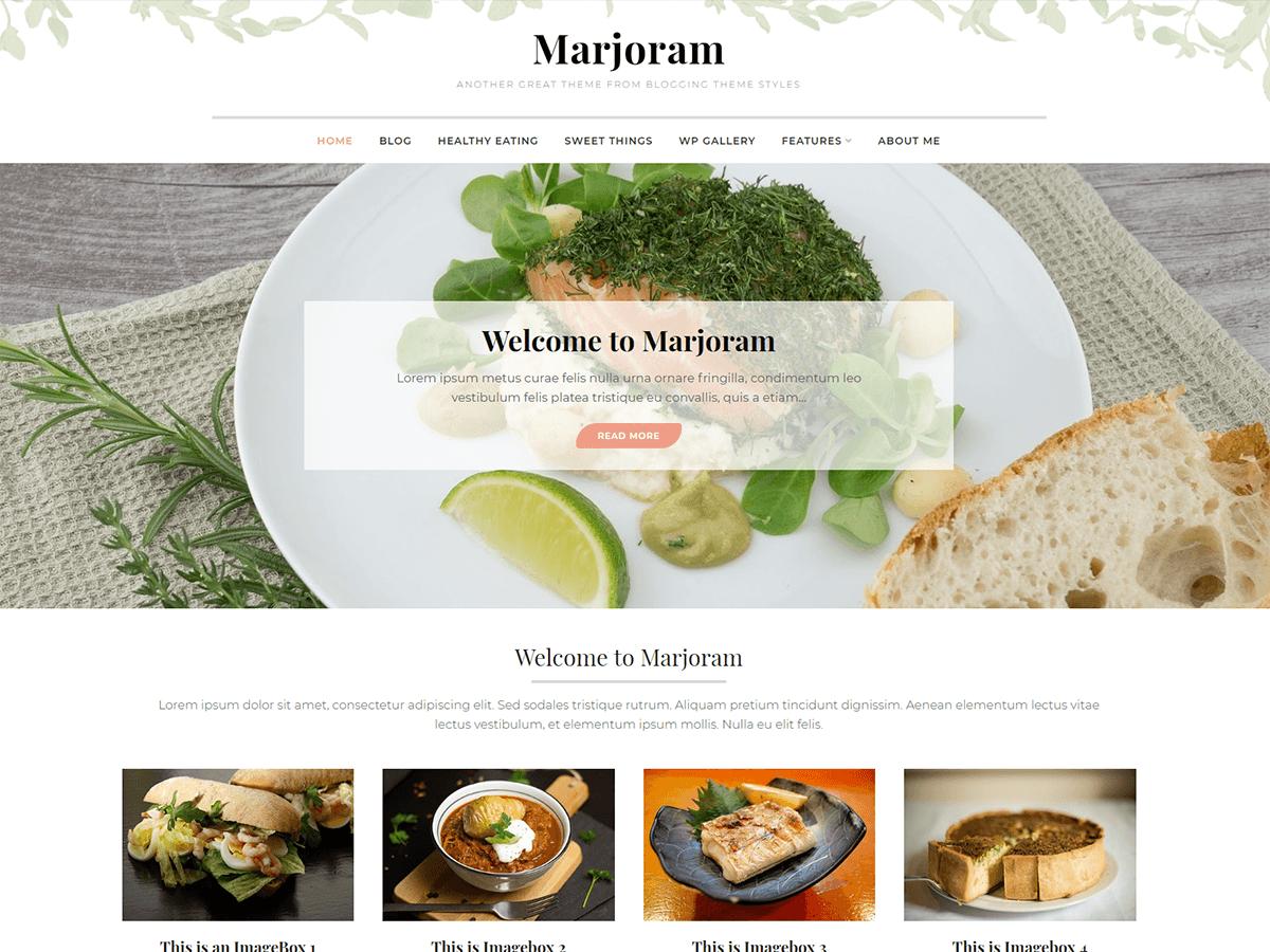 Download Marjoram 1.0.1 – Free WordPress Theme