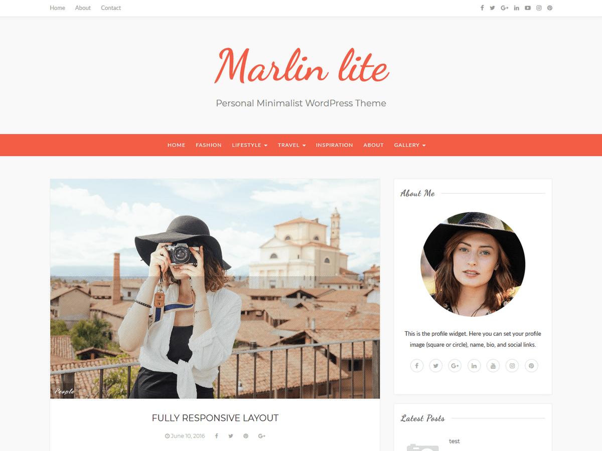 Download Marlin lite 1.0.7 – Free WordPress Theme