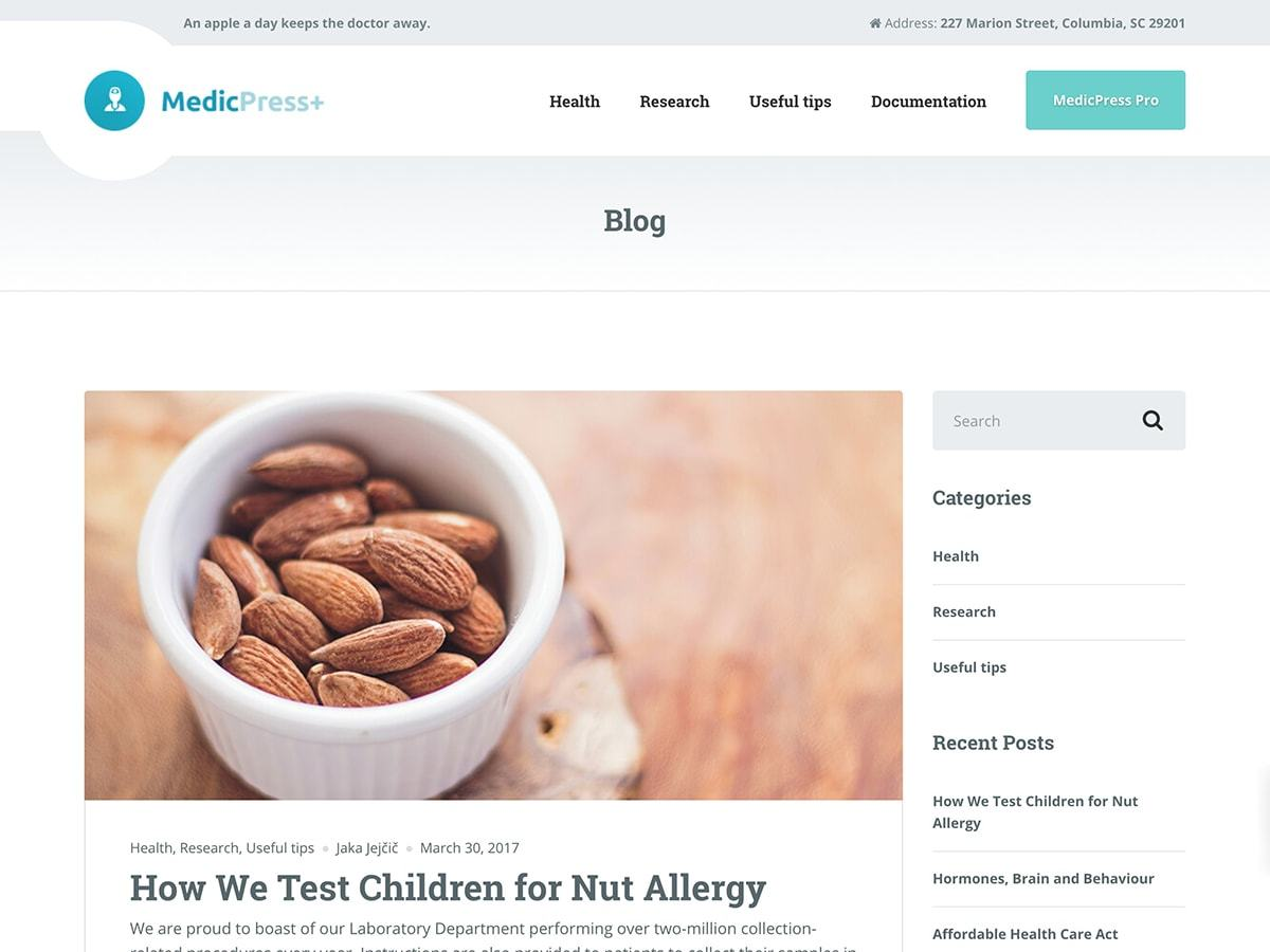 Download MedicPress Lite 0.9.3 – Free WordPress Theme