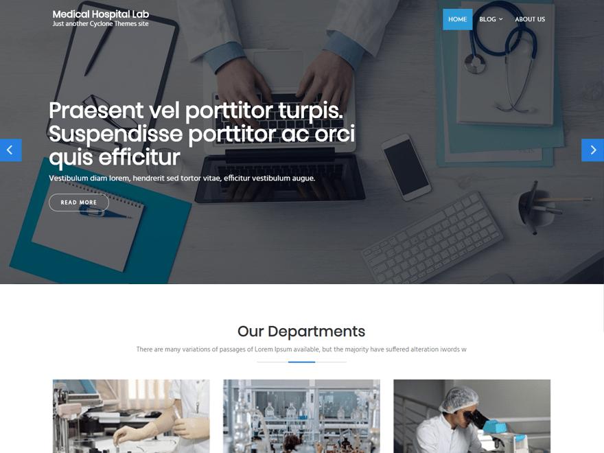 Download Medical Hospital Lab 0.7 – Free WordPress Theme