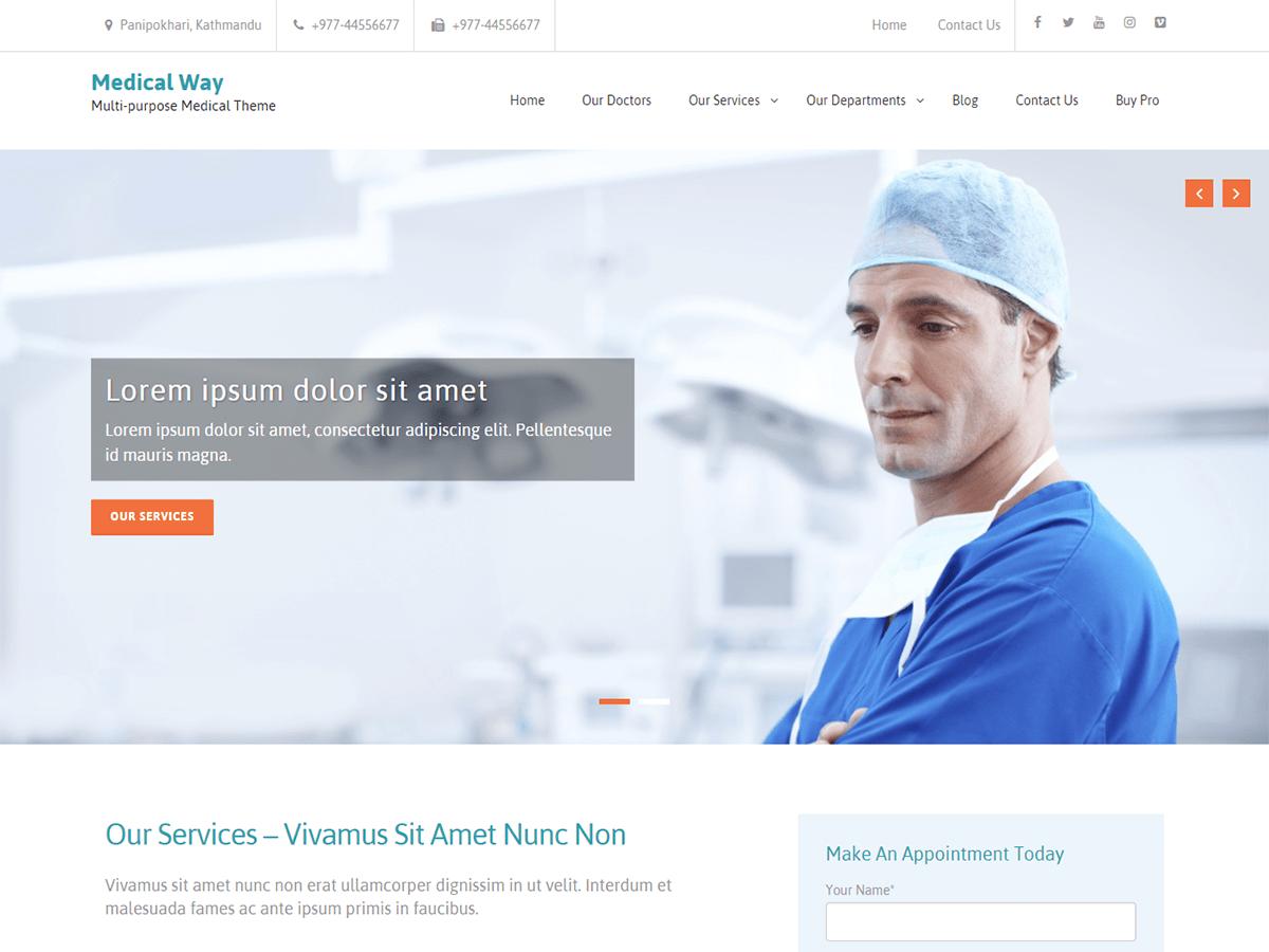 Download Medical Way 1.0.6 – Free WordPress Theme