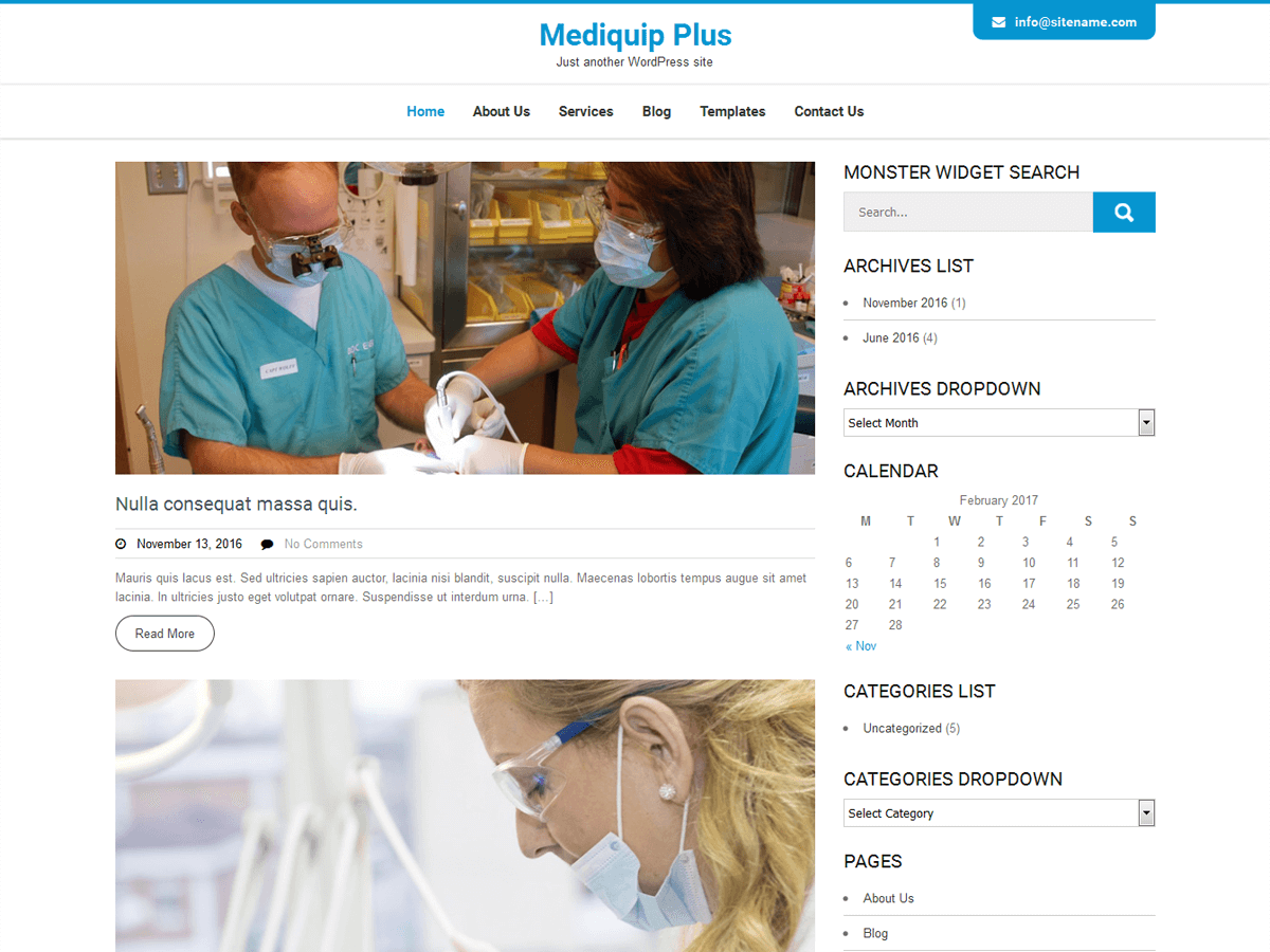 Download Mediquip Plus 1.8.1 – Free WordPress Theme