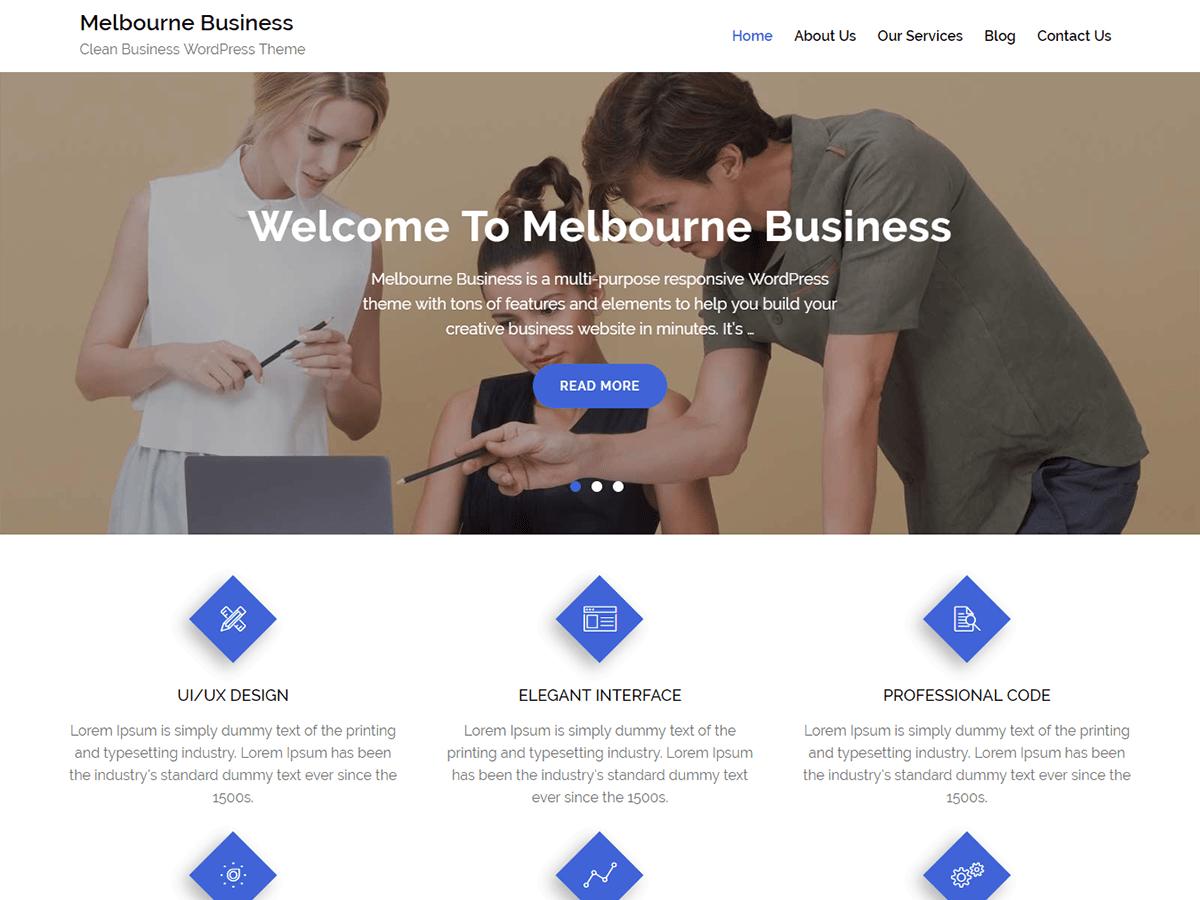 Download Melbourne Business 1.1 – Free WordPress Theme
