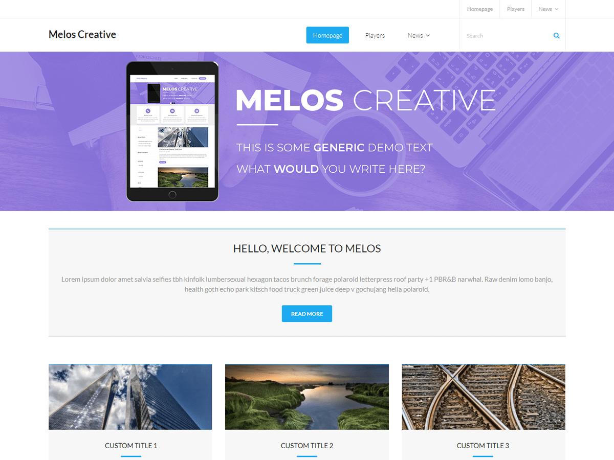 Download Melos Creative 1.0.1 – Free WordPress Theme