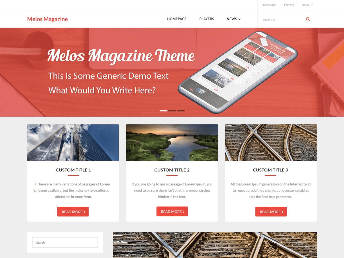 Download Melos Magazine 1.0.2 – Free WordPress Theme