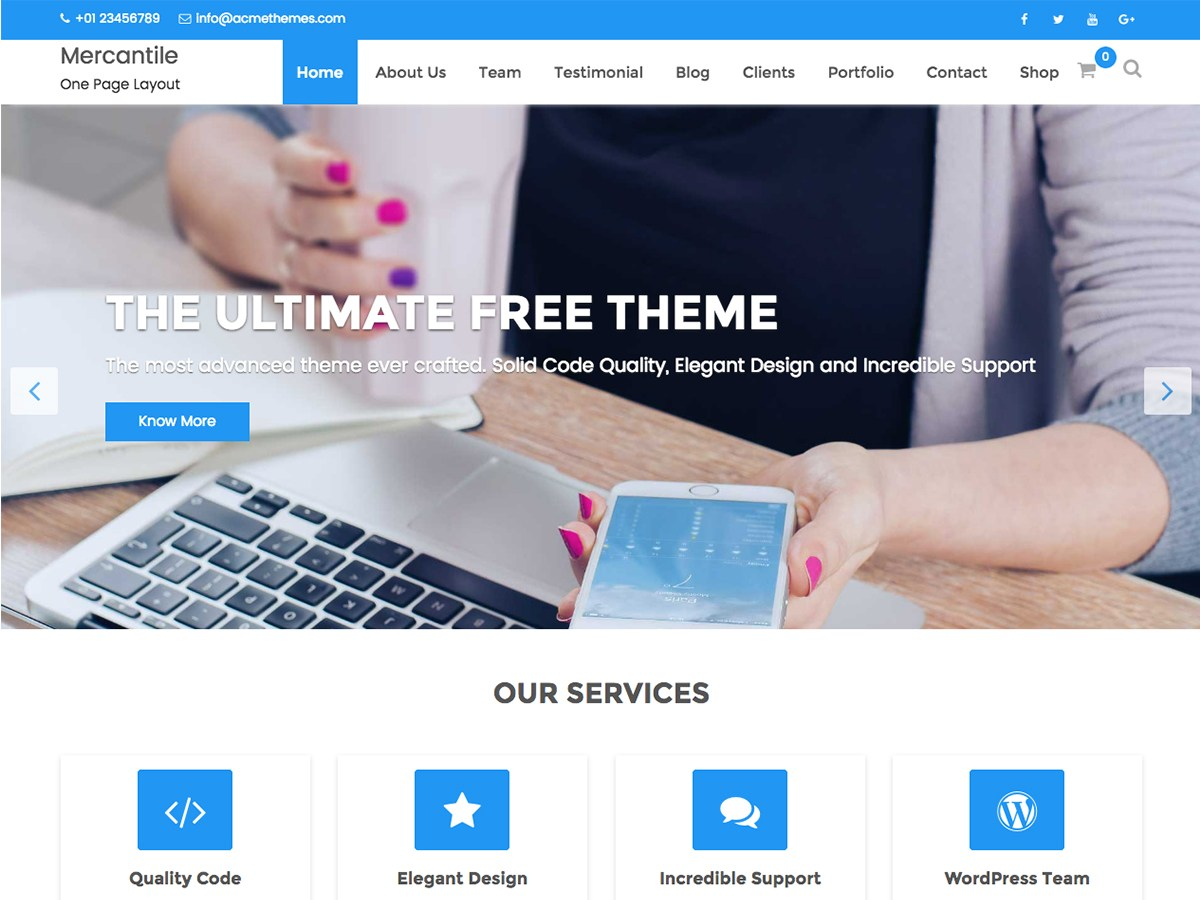 Download Mercantile 2.1.1 – Free WordPress Theme